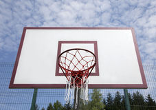 Basketball board on the sports field Royalty Free Stock Photos