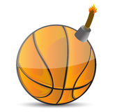 Basketball Bomb Stock Image