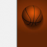 Basketball border background on white Stock Photos