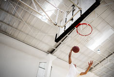 Basketball Bounce Competition Exercise Player Concept.  Royalty Free Stock Photography