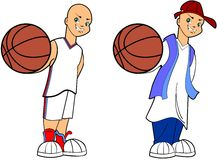 Basketball Boy. Teenage street and court basketball player illustration set Stock Photos