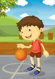 Basketball boy Royalty Free Stock Photo