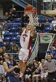 Basketball boys dunk Stock Images