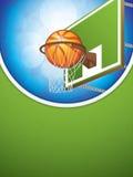 Basketball brochure Stock Image