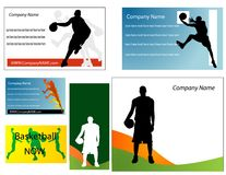 Basketball business card Stock Images