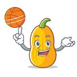With basketball butternut squash character cartoon stock illustration
