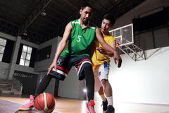 Basketball carry ball for shoot score Stock Photos