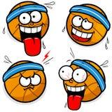 Basketball cartoon faces Stock Photos