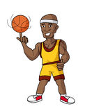 basketball cartoon head mascot player thumbs up Стоковая Фотография RF