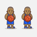 basketball cartoon head mascot player thumbs up Стоковое фото RF