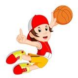 basketball cartoon head mascot player thumbs up Стоковые Фотографии RF