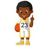 basketball cartoon head mascot player thumbs up Стоковое Изображение RF