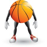 Basketball cartoon man. Picture of a basketball cartoon character Royalty Free Stock Images
