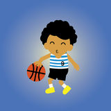 Basketball cartoon Royalty Free Stock Images