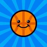 Basketball Cartoon. A vector illustration of a cartoon basketball smiling Royalty Free Stock Photography