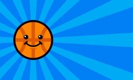 Basketball Cartoon. A vector illustration of a cartoon basketball smiling Royalty Free Stock Image