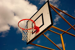 Basketball. Case with blue sky Stock Photos