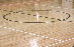 Basketball Center court Royalty Free Stock Photography