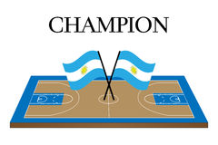 Basketball Champion Court Argentina Stock Photography
