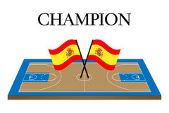 Basketball Champion Spain Stock Images