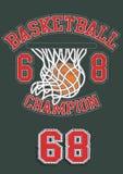 Basketball Champion. Vector illustration of a basketball theme Stock Photography