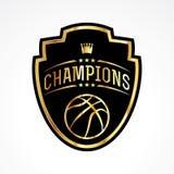 Basketball Champions Badge Emblem Illustration Stock Photography