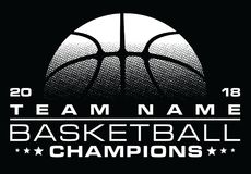 Basketball Champions Design With Team Name Stock Photos