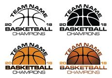 Basketball Champions Designs With Team Name Royalty Free Stock Photography