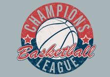 Basketball Champions league distressed print Stock Photo