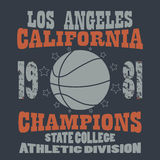 Basketball Champions t-shirt Stock Images