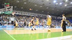 Basketball championship F4 Final in Kiev, Ukraine, stock video footage
