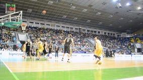Basketball championship F4 Final in Kiev, Ukraine, stock footage