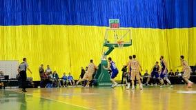 Basketball championship F4 Final, Kiev, Ukraine, stock video