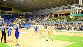 Basketball championship F4 Final, Kiev, Ukraine, stock footage