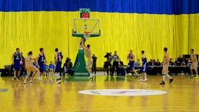 Basketball championship F4 Final, Kiev, Ukraine. stock video footage