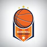 Basketball championship logo. Modern sport emblem. vector illustration Royalty Free Stock Image