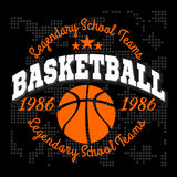 Basketball championship logo set and design elements Stock Images
