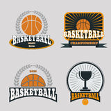 Basketball championship logo set  eps 10. Basketball championship logo set  eps10 Stock Image
