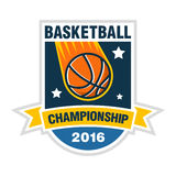 Basketball championship, tournament or team  logo concept. Basketball championship, tournament or team logo concept Stock Photo