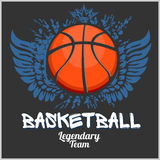 Basketball championship - vector emblem  Royalty Free Stock Photography