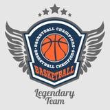 Basketball championship - vector emblem Stock Photo