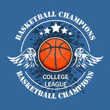 Basketball championship - vector emblem Royalty Free Stock Photo