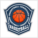 Basketball championship - vector emblem Stock Photo