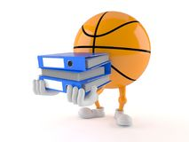Basketball character carrying ring binders Stock Photo