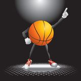 Basketball character on the dance floor Stock Photography