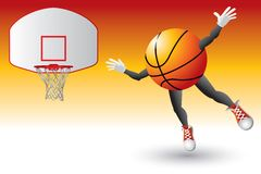 Basketball character going to hoop Stock Photo