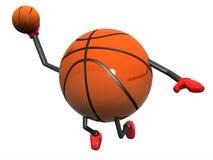 Basketball Character Slam Dunk. 3d model illustration Royalty Free Stock Photography