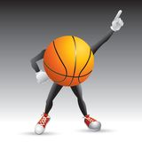 Basketball character striking a pose Stock Image