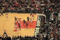 Basketball Charlotte vs Chicago Bulls Royalty Free Stock Image