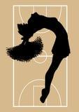 Basketball Cheerleader 4 Stock Image